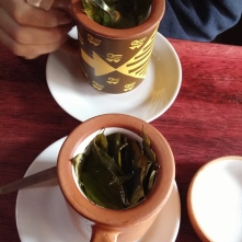 Coca tea, tried for the first time in Cusco
