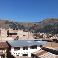 The average view from a hotel room window in a normal Peruvian town