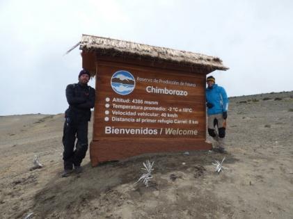 At Chimborazo Vulcano