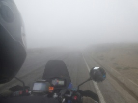 Foggy road to Chimborazu Vulcano