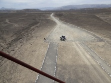 View from one of the watch towers which you climb to view the Nazca Lines
