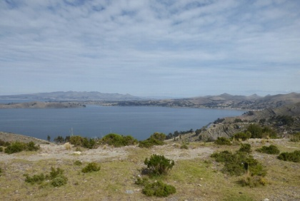 A view of Lake Titicaca